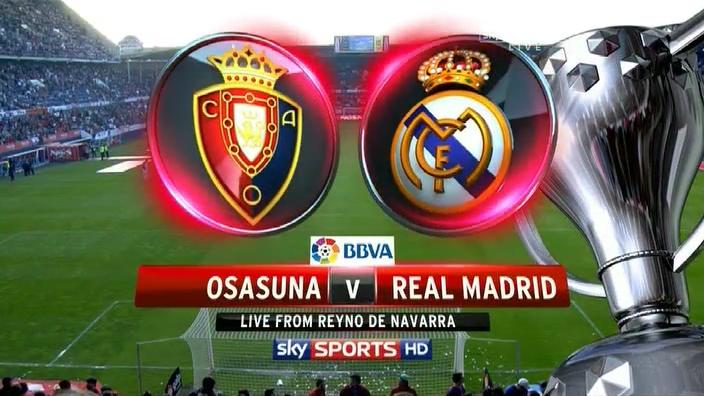 أهداف مباراة ريال مدريد وأوساسونا في الدوري الاسباني اليوم السبت 14-12-2013