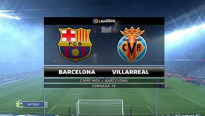 أهداف مباراة برشلونة وفياريال في الدوري الاسباني اليوم السبت 14-12-2013