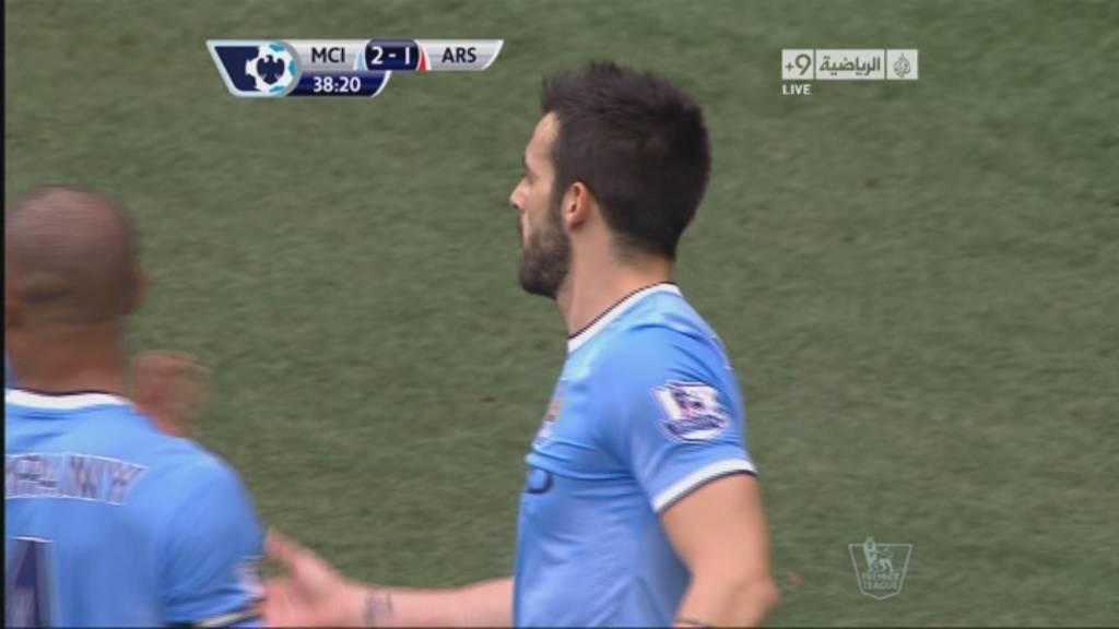 يوتيوب هدف الفارو نيجريدو , الهدف الثاني في مرمي ارسنال اليوم السبت 14-12-2013