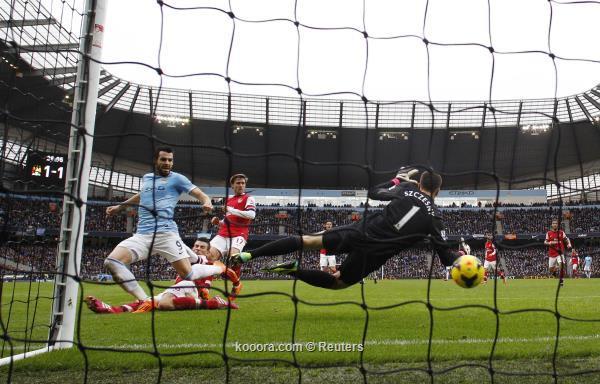 نتيجة مباراة مانشستر سيتي و أرسنال في الدوري الانجليزي اليوم السبت 14-12-2013