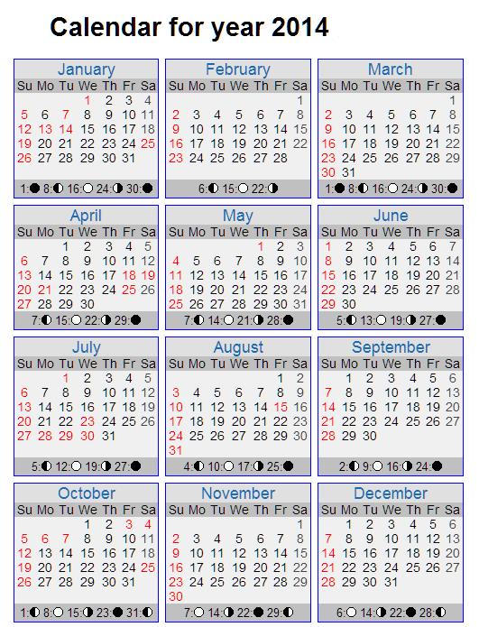 التقويم الميلادي لسنة 2014 , صور التقويم الميلادي لسنة 2014