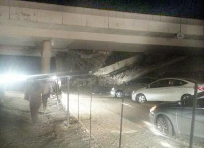 تفاصيل انهيار كوبري على طريق الدمام الرياض اليوم الخميس 19-12-2013
