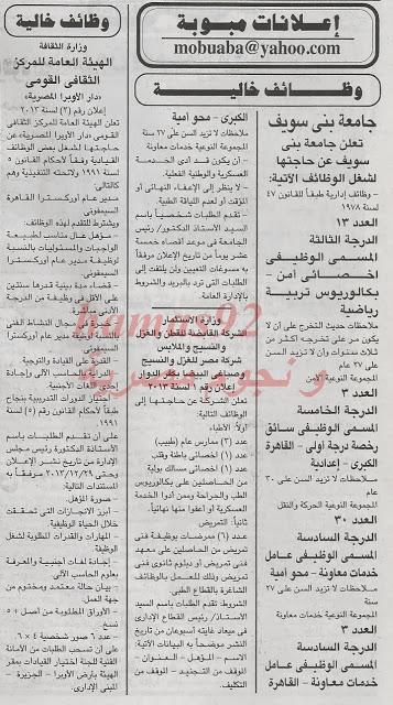وظائف خالية اليوم 23 ديسمبر 2013 , وظائف جريدة الجمهورية اليوم الاثنين 23-12-2013