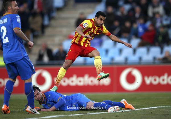نتيجة مباراة برشلونة و خيتافي في الدوري الاسباني اليوم الاحد 22-12-2013