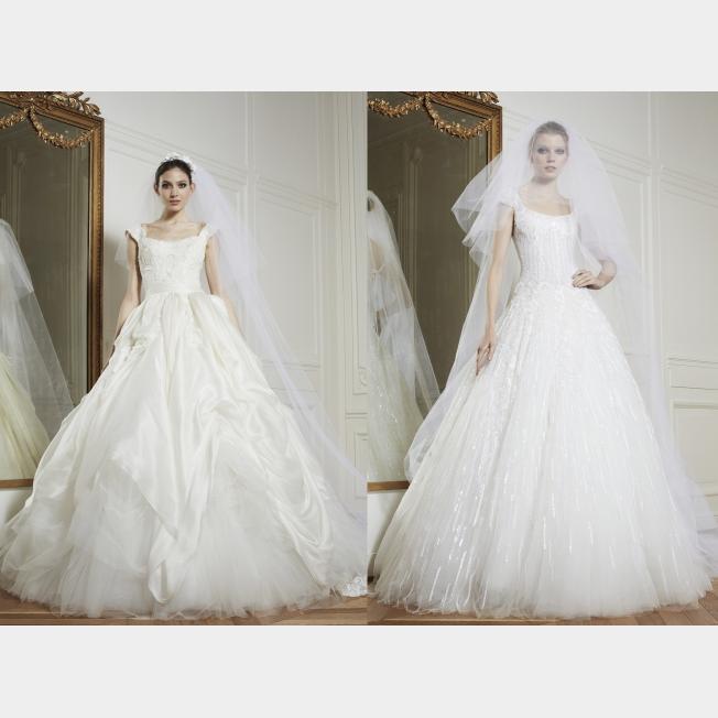فساتين زفاف زهير مراد 2014 , صور فساتين افراح تصميم زهير مراد 2014