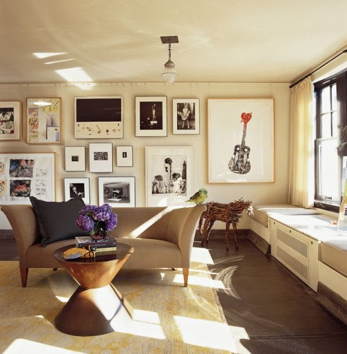 تصميمات حوائط بتعليقات براويز 2014 , ديكورات حوائط للغرف 2014