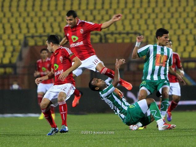 نتيجة مباراة الاهلي و الإنتاج الحربي في الدوري المصري اليوم الخميس 26-12-2013