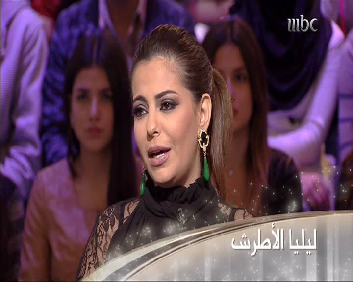 صور الفنانة السورية ليليا الاطرش في برنامج نورت مع اروي اليوم الاثنين 30-12-2013