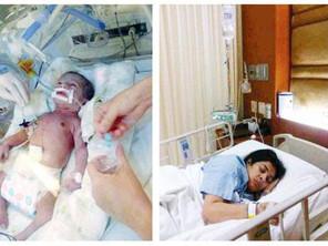 صعقة كهربائية تنقذ الممثلة الكويتية شهد من الموت اليوم الخميس 2-1-2014 , وقف قلبها أثناء الولادة