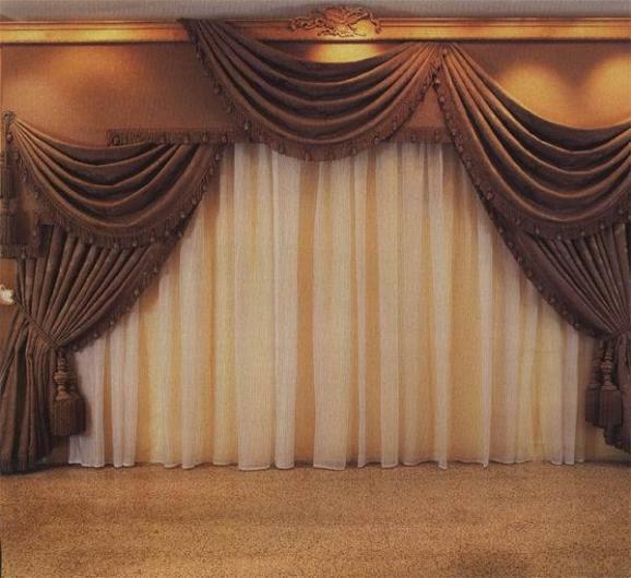 ديكورات ستائر برادي غرف فلل 2014 , تصميمات ستائر نوافد وابوب فلل 2014