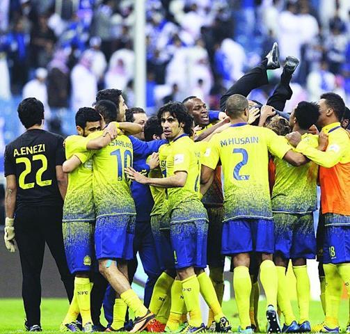 نتيجة مباراة النصر و الفيصلي في الدوري السعودي اليوم الجمعة 3-1-2014