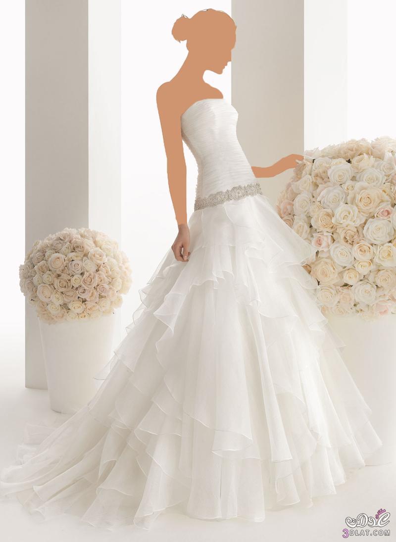 فساتين زفاف شيك 2014 , صور أشكال وموديلات فساتين زفاف منوعة 2014
