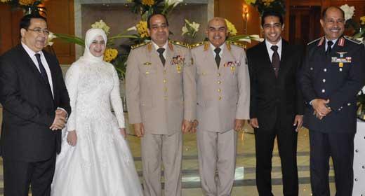 صور زواج ابنة الفريق عبدالفتاح السيسي وزير الدفاع 2014 , عقد قران بنت الفريق السيسي 2014