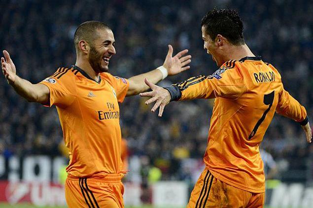 اخبار ريال مدريد 2014 , الثلاثي الهجومي لريال مدريد يتجاوز الخمسين هدفا
