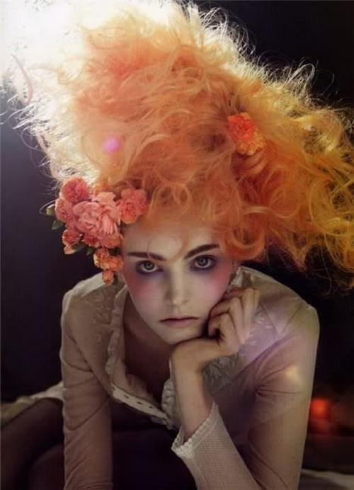 فرمات شعر غريبة , صور تسريحات شعر مجنونة 2016