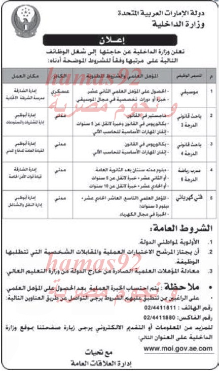 وظائف جريدة الاتحاد الامارات اليوم الخميس 23-1-2014 , وظائف خالية في الامارات اليوم 23 يناير 2014