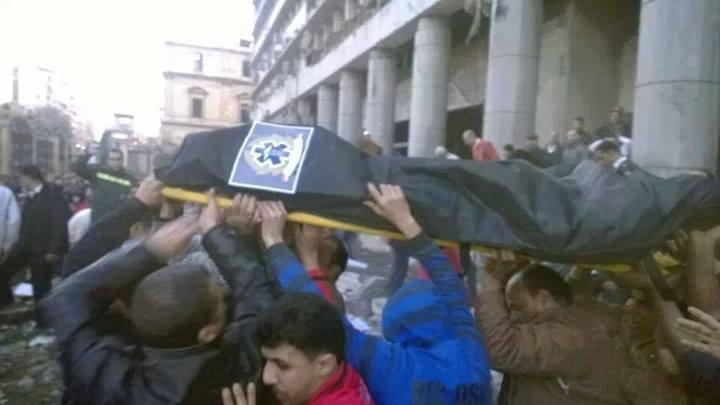 صور ضحايا تفجير مديرية أمن القاهرة اليوم الجمعة 24-1-2014 , أسماء ضحايا انفجار مديرية أمن القاهرة