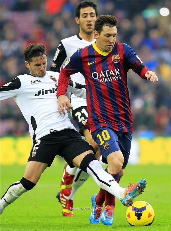 نتيجة مباراة برشلونة و فالنسيا في الدوري الاسباني اليوم السبت 1-2-2014