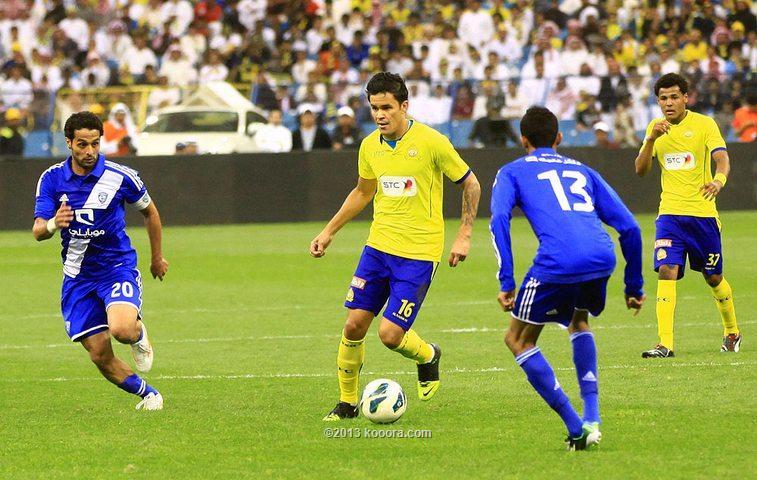 النصر يتوج بكأس ولي العهد السعودي بفوز مثير علي الهلال السبت 1-2-2014
