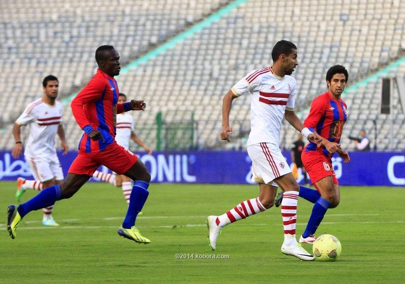 نتيجة مباراة الزمالك و بتروجيت في الدوري المصري اليوم الاحد 2-2-2014