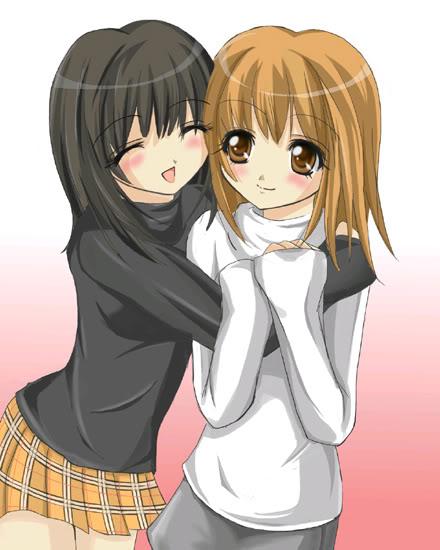 صور بنات انمي صداقة , خلفيات انمي بنات صديقات