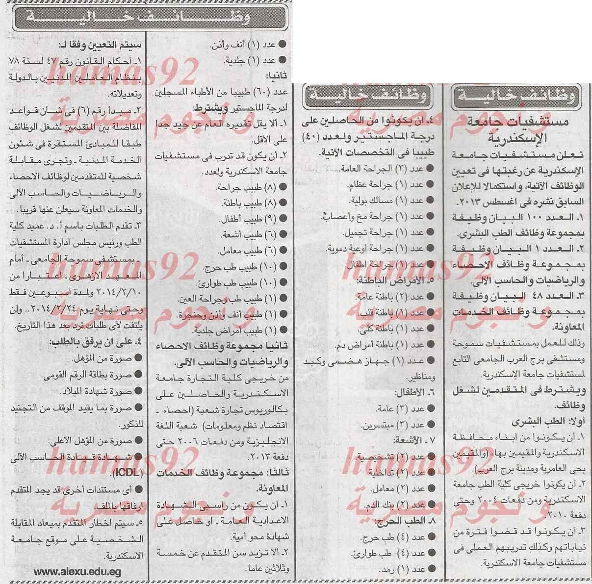 وظائف جريدة الجمهورية اليوم الخميس 6-2-2014 , وظائف خالية اليوم 6 فبراير 2014