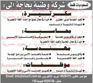وظائف جريدة الرياض السعودية اليوم الجمعة 7-2-2014 , وظائف خالية في السعودية 7-4-1435