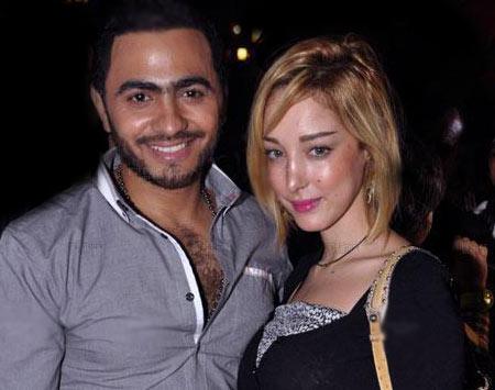 انباء عن حمل بسمه بوسيل زوجة تامر حسني