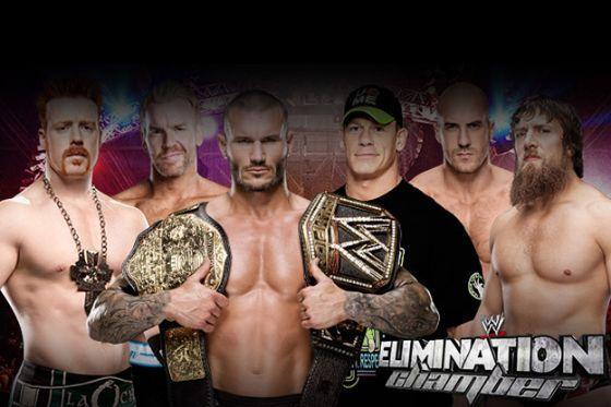 موعد مهرجان المصارعة Elimination Chamber 2014 , توقيت مهرجان المصارعة غرض غرفة الاقصاء 23-2-2014
