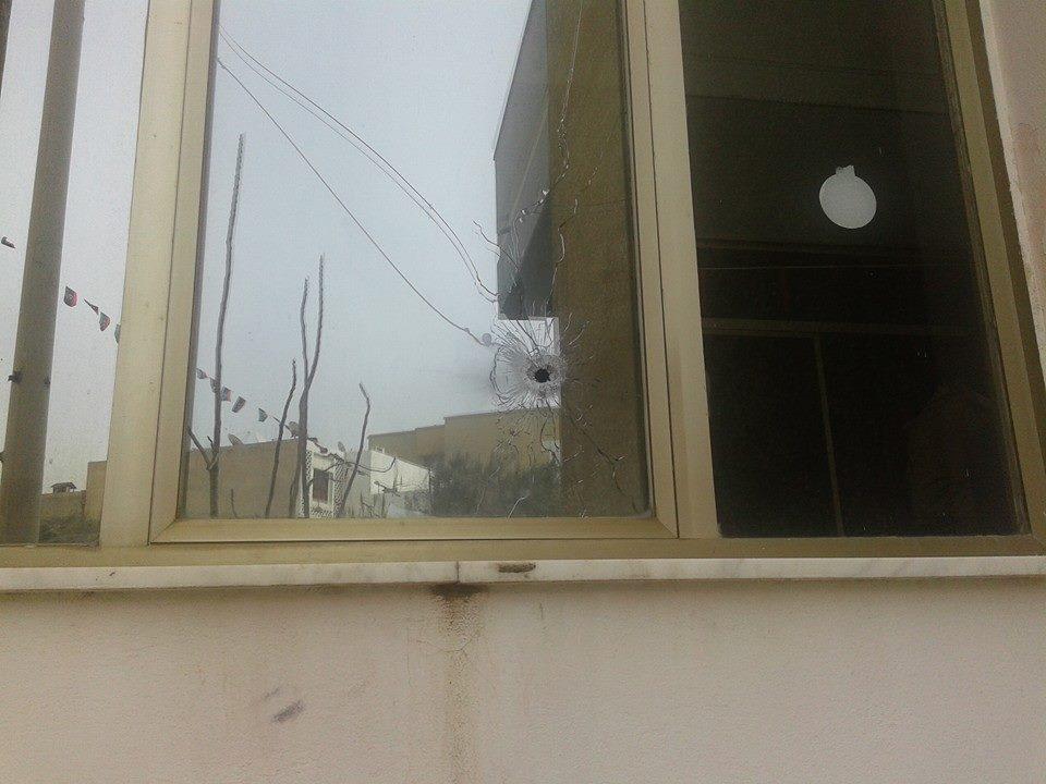 صور الدمار و حرق وتفجير قناة العاصمة اليوم الاربعاء 12-2-2014