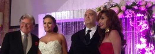 أحتفل الإعلامي الكبير عماد الدين أديب بحفل زفافة على الممثلة الشابة مروة حسين اليوم الجمعة 14-2-201