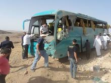 انفجار شديد فى اتوبيس سياحى في طابا اليوم الاحد 16-2-2014