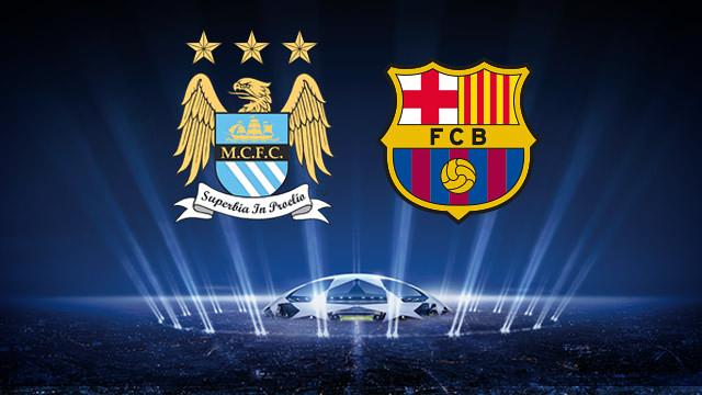 Manchester City vs Barcelona Champions League tuesday 18 February 2014