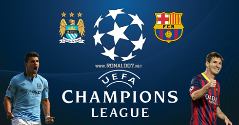 Manchester City vs Barcelona Champions League tuesday 18 February 2014