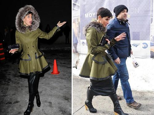 صور الأميرة السعودية دينا الجهني في سبوع الموضة بنيويورك 2014