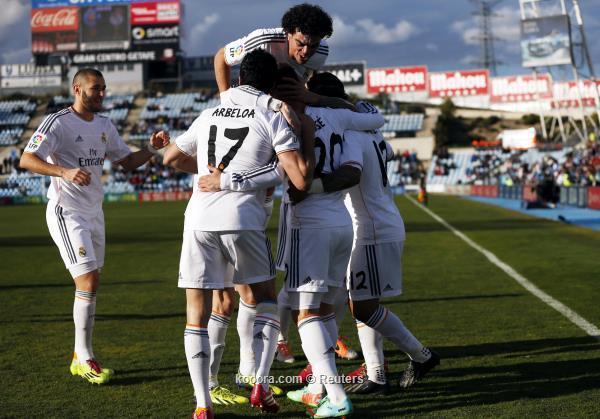 صور و تفاصيل نتيجة مباراة ريال مدريد و خيتافي في الدوري الاسباني اليوم الاحد 16-2-2014