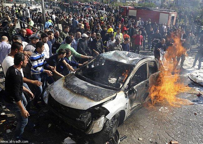 صورة قتلى وجرحى انفجار الضاحية الجنوبية في بيروت اليوم الاربعاء 19-2-2014