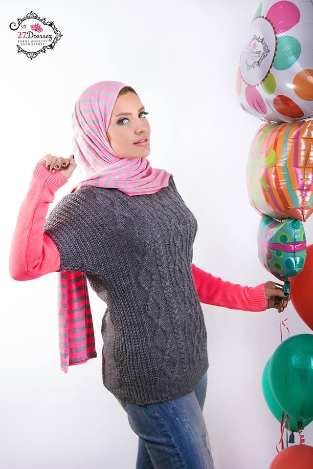 صور اشيك ملابس محجبات شتوية كاجول لعام 2015