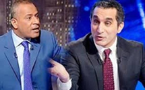لاعلامي احمد موسي في قناة التحرير يرد سخرية باسم يوسف منه 21-2-2014