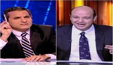رد الاعلامي عمرو اديب علي سخرية باسم يوسف منه علي قناة ام بي سي مصر 24-2-2014