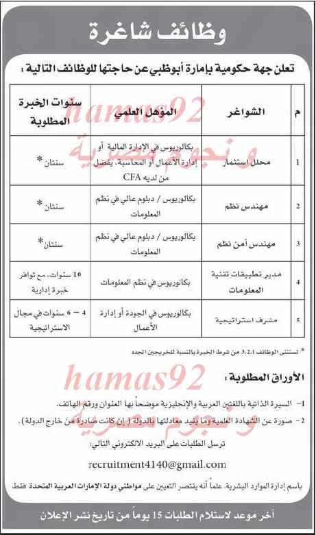 وظائف جريدة الاتحاد الامارات اليوم الاثنين 24/2/2014 , وظائف خالية اليوم 24 فبراير 2014