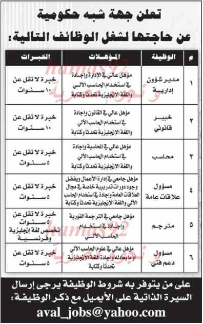 وظائف جريدة الراية قطرية اليوم الثلاثاء 25/2/2014