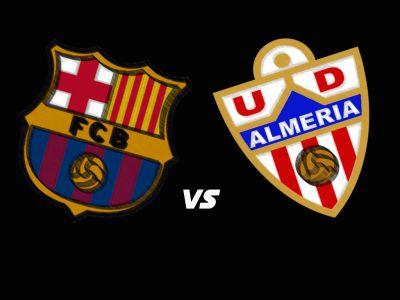 القنوات المجانية التي تذيع مباراة برشلونة وألميريا اليوم الاحد 2/3/2014