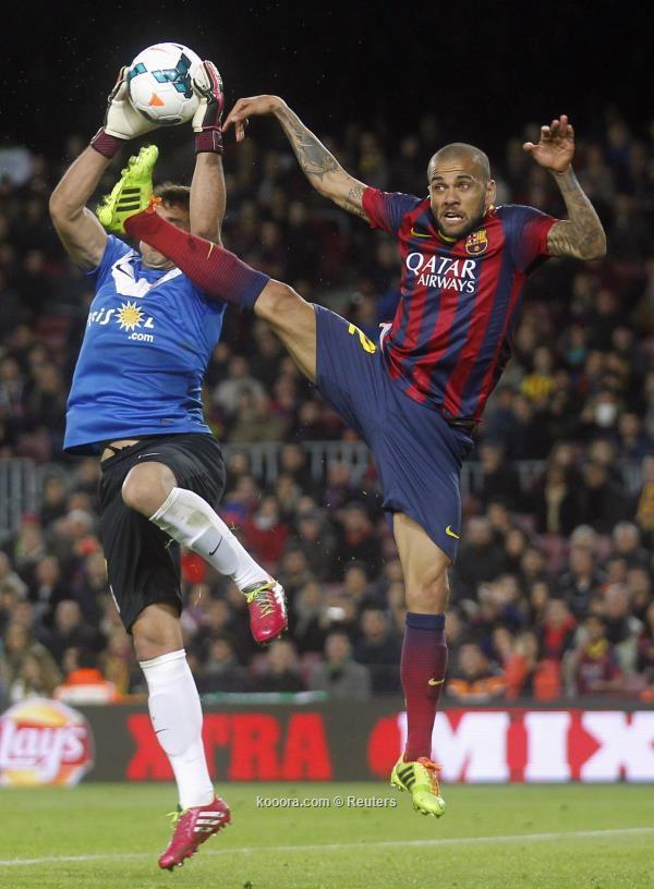 نتيجة مباراة برشلونة و ألميريا في الدوري الاسباني اليوم الاحد 2-3-2014