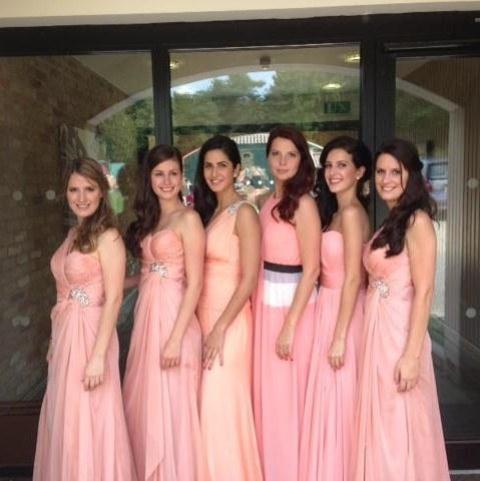 صور النجمة الهندية كاترينا كيف أثناء حفل زفاف شقيقتها كريستين فى لندن 2014
