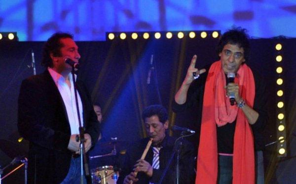 صور محمد منير مع على الحجار فى حفل قناة التحرير داخل فندق فورسيزونز نايل بلازا 2014
