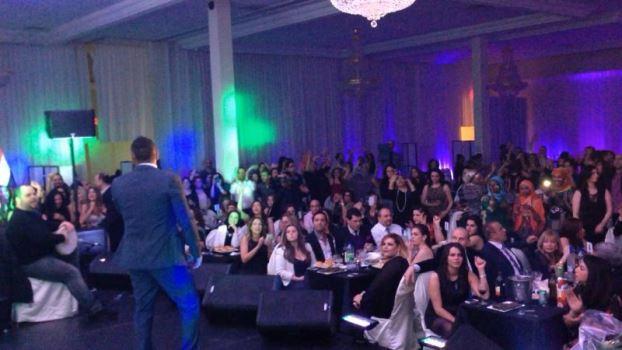 صور تامر حسني في حفل جماهيري في كندا وتحديداً في Montreal 2014