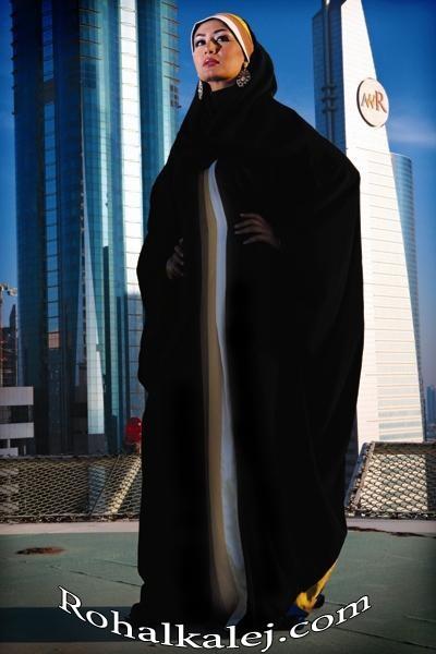 عبايات سوداء انيقة 2016 من المصمم اللبناني العالمي وليد عطالله , صور عبايات محجباتن سوداء
