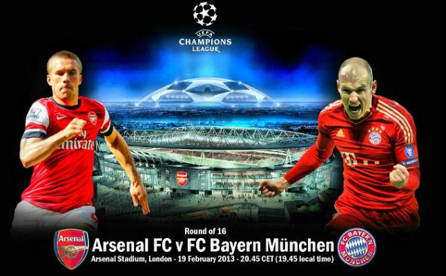 القنوات المجانية التي تذيع مباراة بايرن ميونخ والأرسنال اليوم الثلاثاء 11 مارس 2014