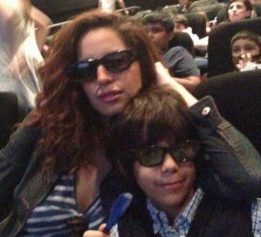 صور آمال ماهر تظهر برفقة إبنها الوحيد 2014